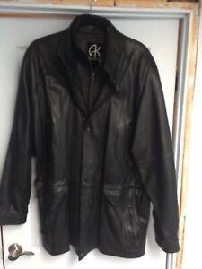 Manteau cuir Akoury homme XL