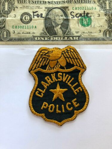 Very rare Clarksville Tennessee Police patch Pre-sewn great shape