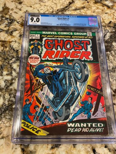 GHOST RIDER #1 CGC 9.0 CVA EXCEPTIONAL RARE WHITE PAGES LOOKS NICER! HOT BOOK!