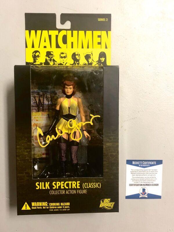 Carla Gugino Signed Watchmen Sally Jupiter Silk Spectre Action Figure Proof BAS