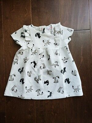 Zara Baby Girl Dress Tunic Button Back Brand new Girls animal print textured