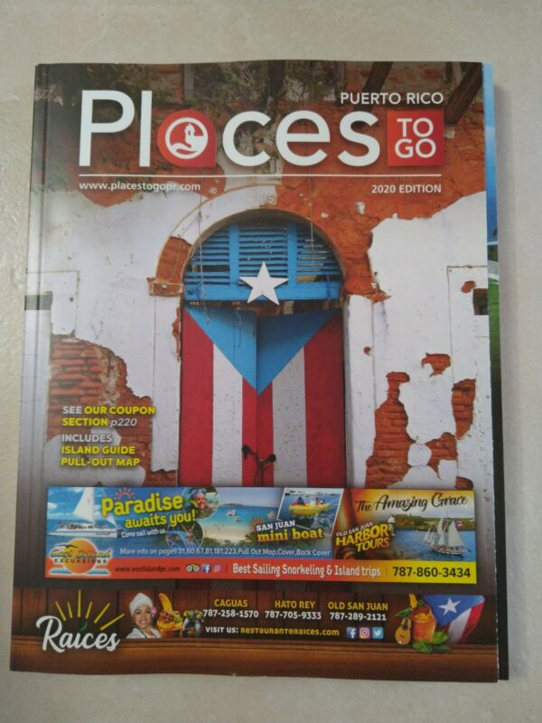 Puerto Rico New Guide Brochure Places to Go 2020 Magazine coupons, Maps , Food