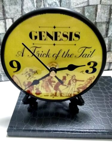 GENESIS - A TRICK OF THE TAIL - 5 IN DESKTOP CLOCK - STAND N GIFT BOX INCLUDED