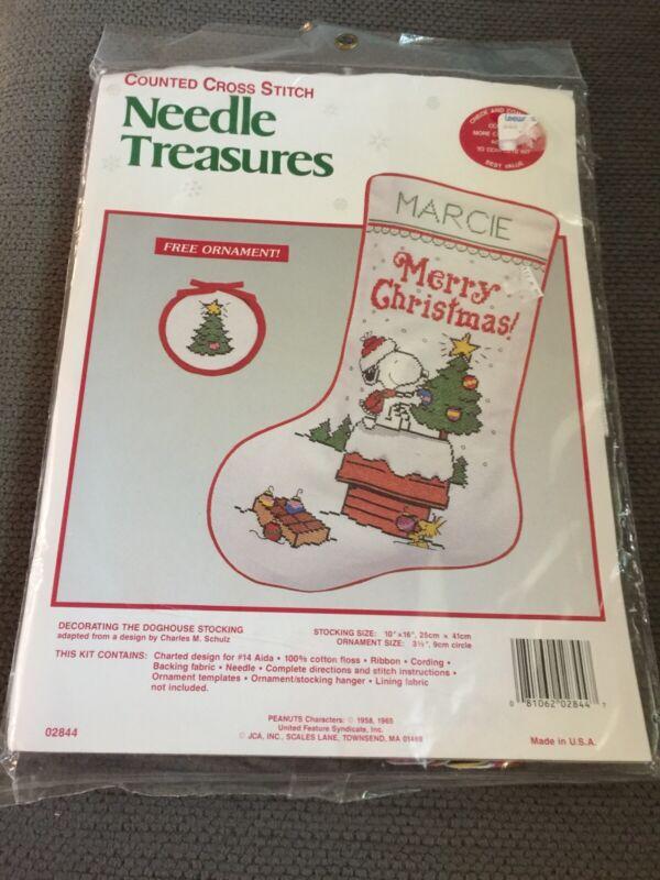 Christmas Stocking Kit. Snoopy, Needle Treasures, New