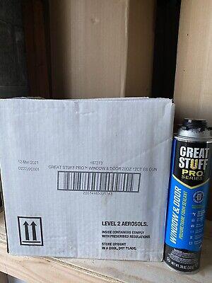 Great Stuff Pro Window Door Insulating Foam 20oz. Box-12cans