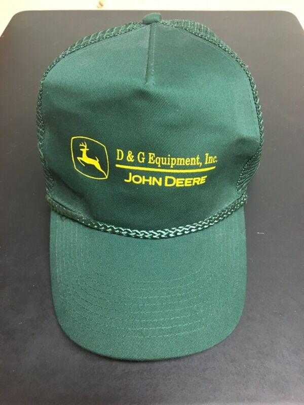 JOHN DEERE HAT D & G Equipment, Inc Dealership Snapack Trucker Cap