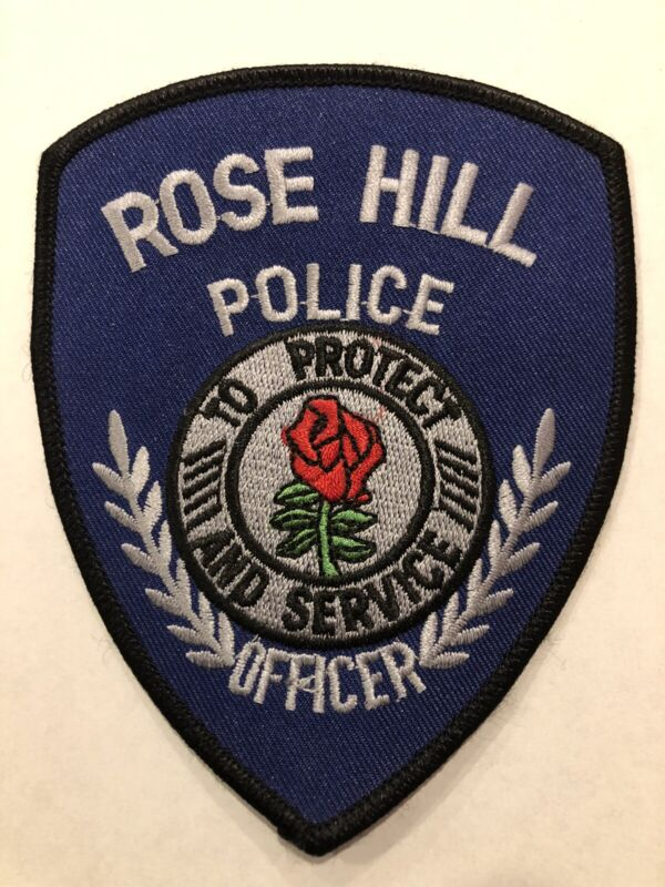 Rose Hill Iowa Police Patch ~ New Condition