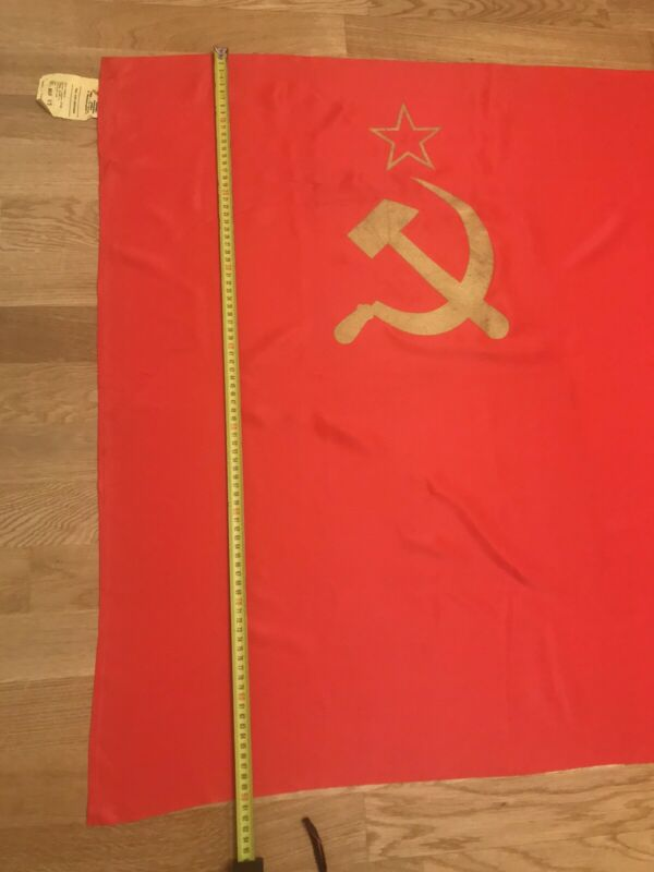 Original Great Flag USSR Vintage Silk