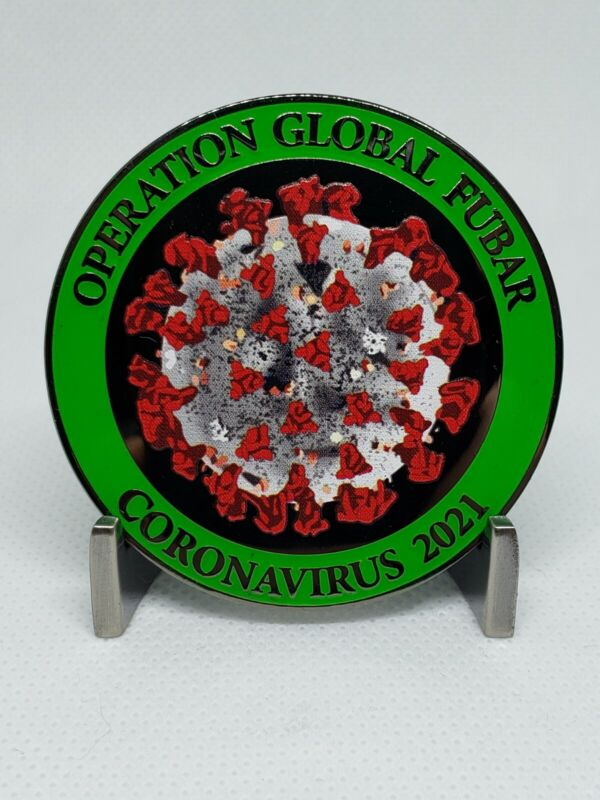 FACTORY DEFECT - 2021 GLOWING Operation Global FUBAR Challenge Coin clusterfuck