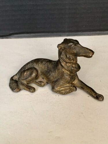 Vintage Art Deco Borzoi Metal Dog Figurine Made In Japan