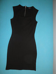 EVITA-abito-vestito-Tubino-nero-Tg-40-IT-UK-8-stretch-elasticizzato