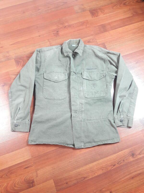Vintage WWII 1940s USMC P41 HBT Jacket shirt
