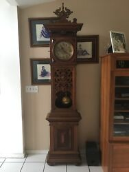 LFS Antique Tall Case Grandfather Clock produced between 1881-1900. WOW'