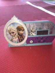 "Disney Frozen Anna & Elsa Musical Alarm Clock Plays ""Let It Go"" Authentic"