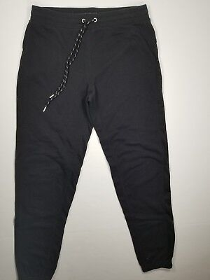 ABERCROMBIE & FITCH Joggers Sz S Side Mesh Womens Black