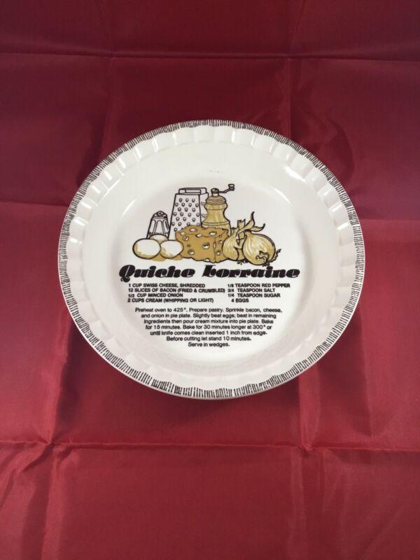 Vintage Quiche Lorraine Pie Dish