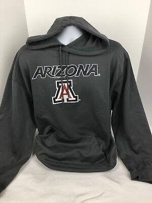 Badger Drawstring Sweatshirt (Badger Sport Mens Hoodie Sweatshirt Gray Sz XL Arizona Spell Out )