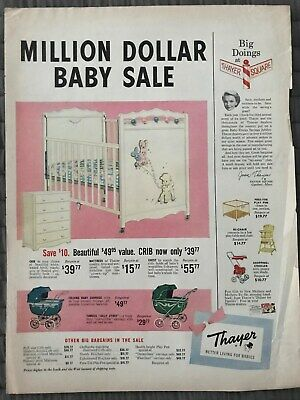 Thayer Better Living For Babies~Million Dollar Sale~1954 Vintage Print AD A60