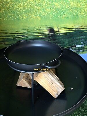 Fire Pit Brazier Logburner Wrought Iron Wok & Stand