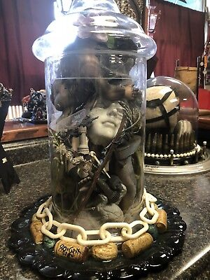 assemblage art   mixed media   sculpture oddities Shadow Box Creepy - Halloween Mixed Media Art