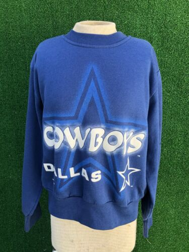 Vintage 1996 Dallas Cowboys NFL Crewneck  USA Sweatshirt Child sz Med 10/12