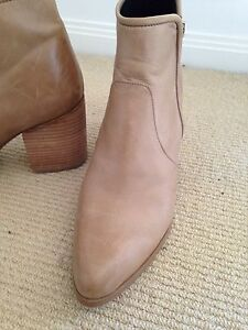 Tan Leather Ankle Boots Size 39 Bulimba Brisbane South East Preview