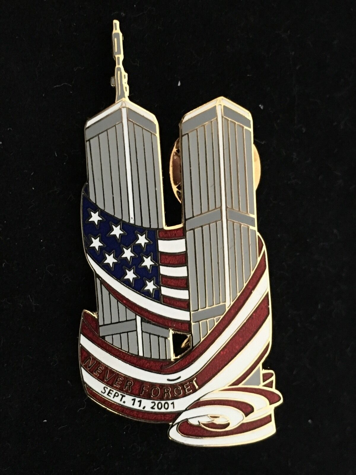 USA AMERICAN FLAG PINCRAFT PIN NEW