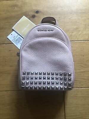 Michael Kors Abbey Pink Blossom XS Leather Studded Backpack 35T7SAYB1L