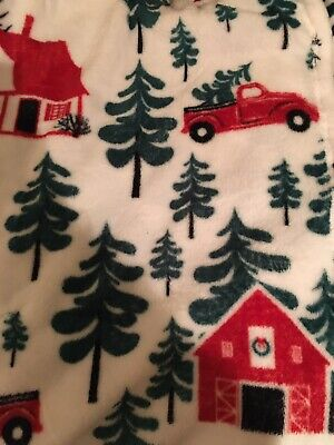 Red Truck With Christmas Tree Throw Soft Lightweight 50x60 Blanket Fleece NEW