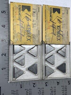 New Qty 10 Kennametal Tnu 434 K6 Carbide Inserts Multiple Lots In Stock