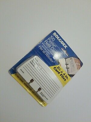 Vintage 1996 Rolodex Petite Refill Cards - Sealed Package 100 Cards 2.25 X 4