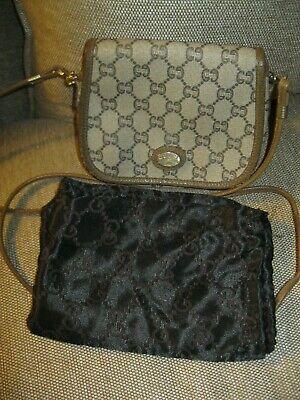 Rare VTG GUCCI PLUS Italy Mini Crossbody Handbag Purse +Dustbag
