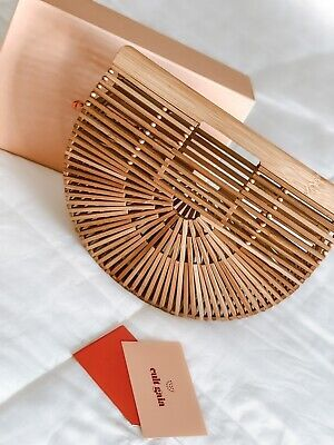 Cult Gia Gaia's Ark Clutch Bamboo Handbag Natural Bag