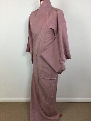 SALE-Vintage Authentic Silk  Kimono Royal Elegance Woven Stylish Design M-L #023
