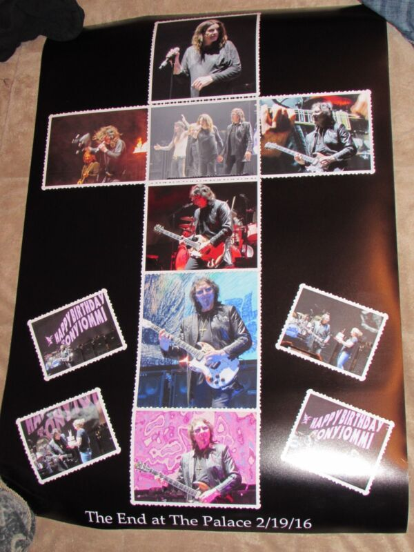 Black Sabbath RARE poster The End Ozzy Osbourne Tony Iommi