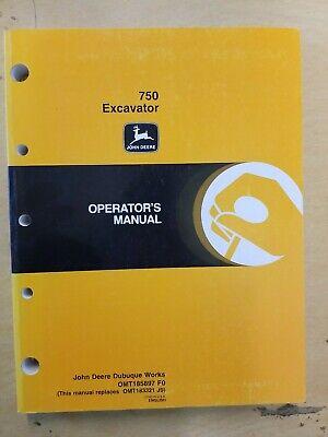 John Deere 750 Excavator Operators Manual
