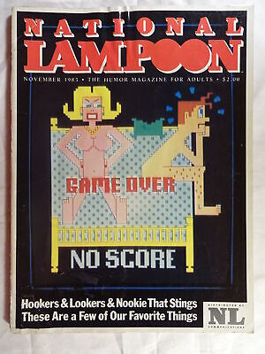 National Lampoon Magazine November 1983 Sex Video Game Cover Humor for Adults ()