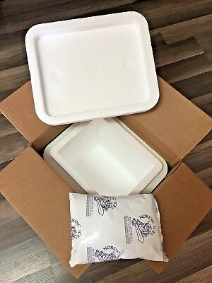Propak Styrofoam Insulated Cooler Shipping Container 11x9x12 Perishable