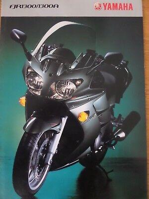 Yamaha FJR1300/FJ1300A Motorcycle Sales Brochure 2003