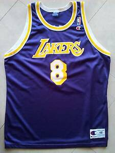 KOBE BRYANT L.A. LAKERS JERSEY #8 CHAMPION AUTHENTIC SIZE 48 NBA Dee Why Manly Area Preview