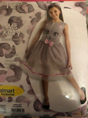 Miss Kitty Costumes (Halloween Costume Girls Ms Kitty Miss Small 4-6)
