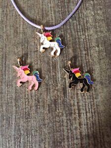 Unicorn pendant necklace chain kids girls costume jewellery gift UK
