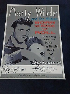 MARTY WILDE SIGNED POSTER
