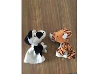 """Kelly Toy Animal Friends Tiger Hand Glove Puppet 11/"""" Brand New Play Therapy"""