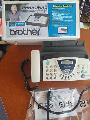 Brother Model 575 Personal Plain Paper Fax Phone Copier Machine Very Clean Wbox