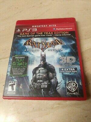 Used, Batman Arkham Asylum PlayStation 3 PS3 for sale  Shipping to Nigeria