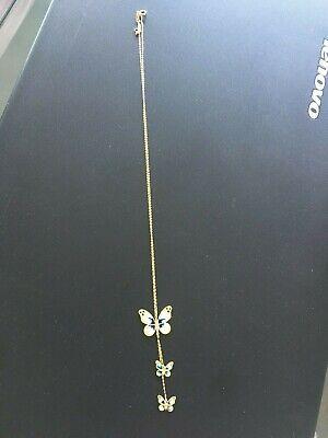 beautiful 14k gold butterflies dangle necklace 14k Gold Dangle Necklace