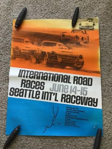 1970s Seattle International raceway June 14-15th, Road race poster.