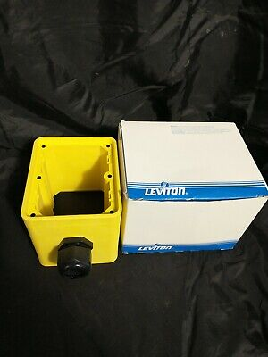 Leviton 3200-2y Portable Outlet Box 2gang 2inlet 5.65l