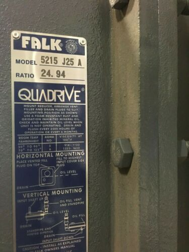 Falk Quadrive Gear Reducer 5215 J25 A Ratio 24.94